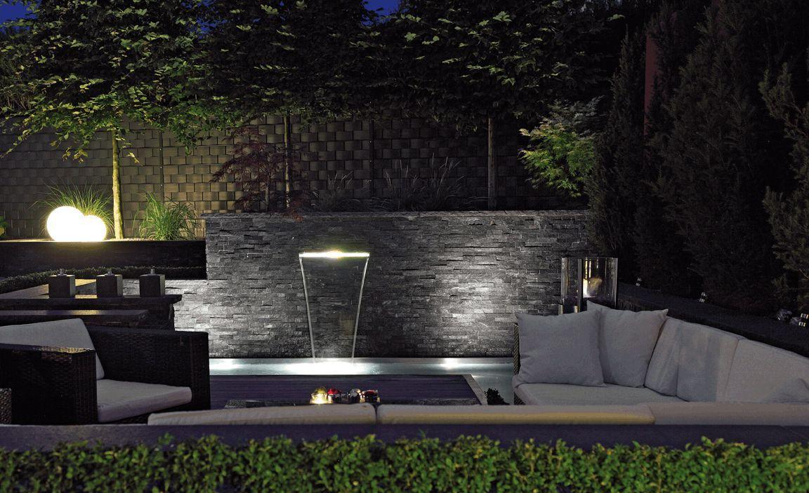 oase wasserfall beleuchtung / waterfall illunination 60 | garten, Gartengestaltung