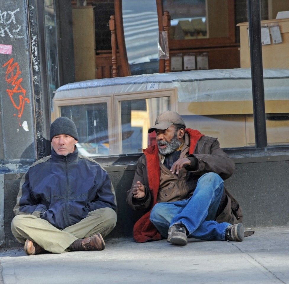 Photos On The Set Movies And Tv Los Angeles Times Richard Gere Movies Homeless