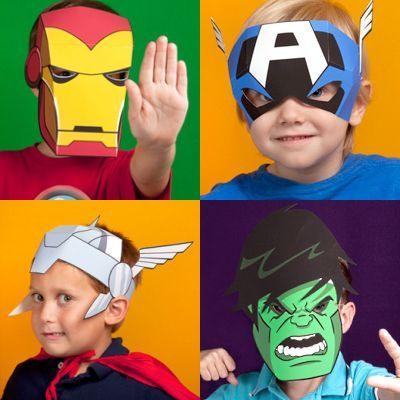 Printable avengers masks for kids party ideas for sawyer for Avengers mask template