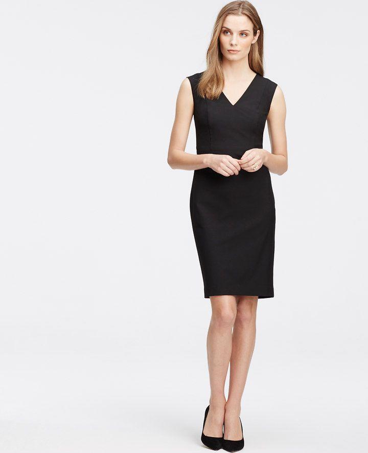 Petite All-Season Stretch Seamed Sheath Dress | Ann Taylor ...