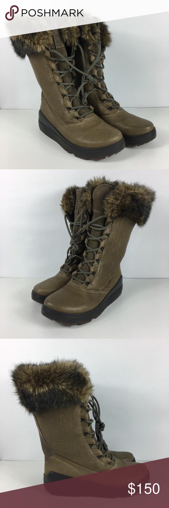 127a8ae521 ECCO Noyce Lite Tall Leather Winter Snow Boots | My Posh Closet ...