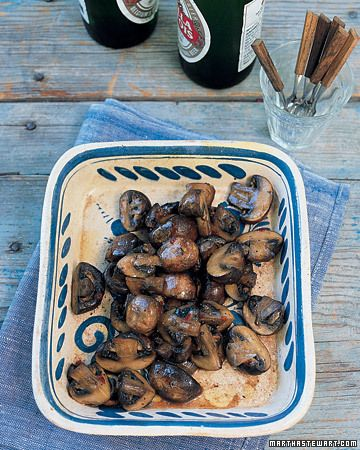 """""""Balsamic Mushrooms - Martha Stewart Recipes (These are SO good.  I made them to top a grilled chicken sandwich, but have just been eating them on their own...they'll never make it to the sandwich!)"""""""
