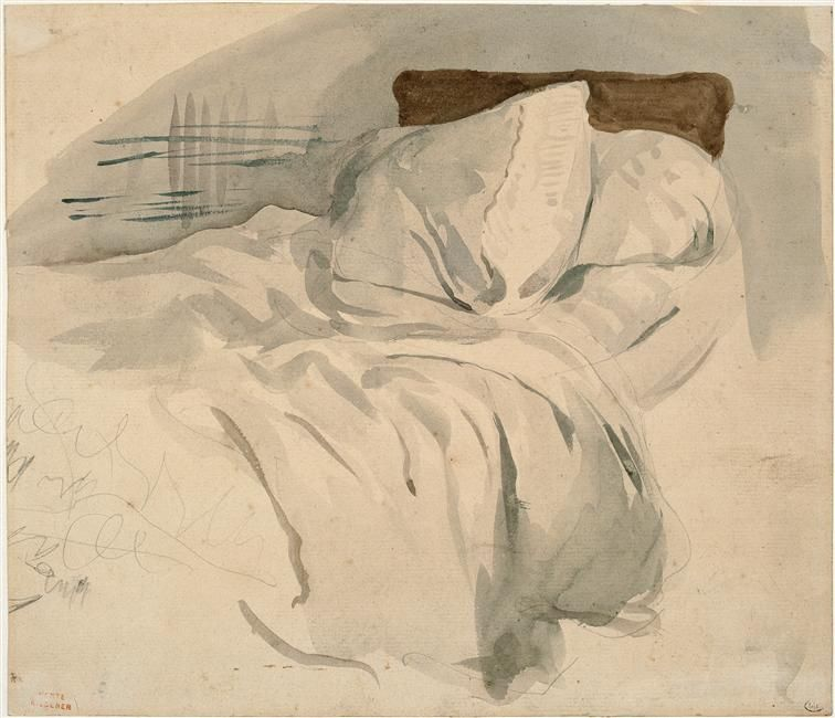 Un Lit Defait Eugene Delacroix 1824 28 French 1798 1863