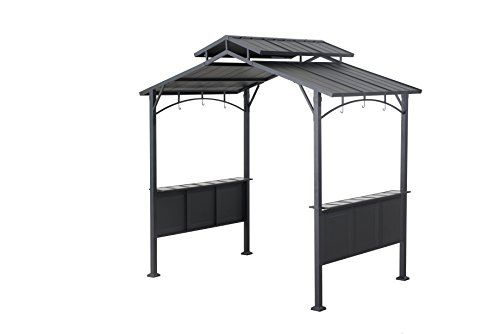 Price Tracking For Sunjoy L Gg032pst C 8 X 5 Kent Hardtop Grill Gazebo Price History Chart And Drop Alerts For Amazon Manythings Online Grill Gazebo Gazebo Shade Sail