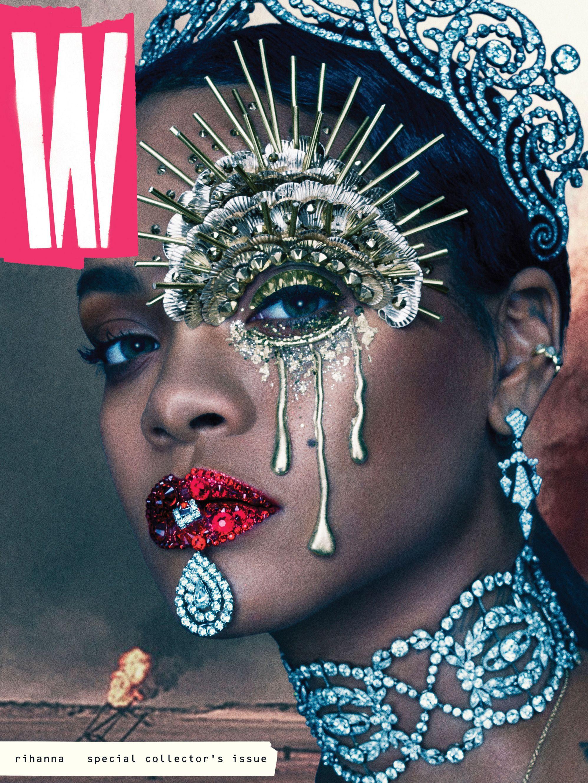 Rihanna on W's September Cover.