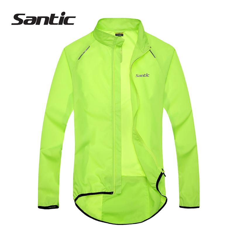 SANTIC Cycling Jacket for Men Women Windproof Fleece Jersey Coat Black
