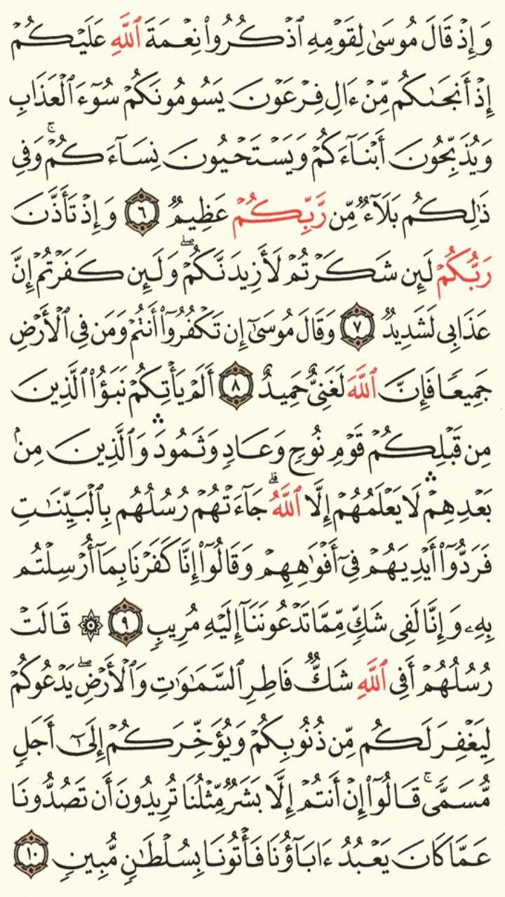 سورة إبراهيم الجزء الثالث عشر الصفحة 256 Quran Verses Math Bullet Journal