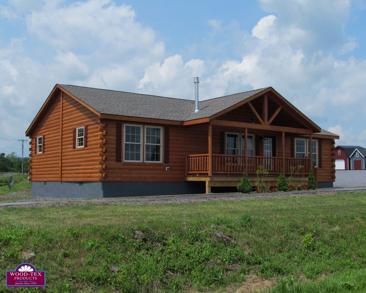 The keuka prefab cabins and modular log homes wood tex for Wood cabin homes