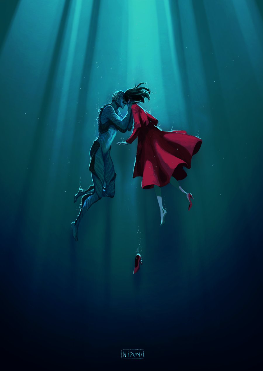 Scubadiverart The Shape Of Water Water Movie Water Drawing