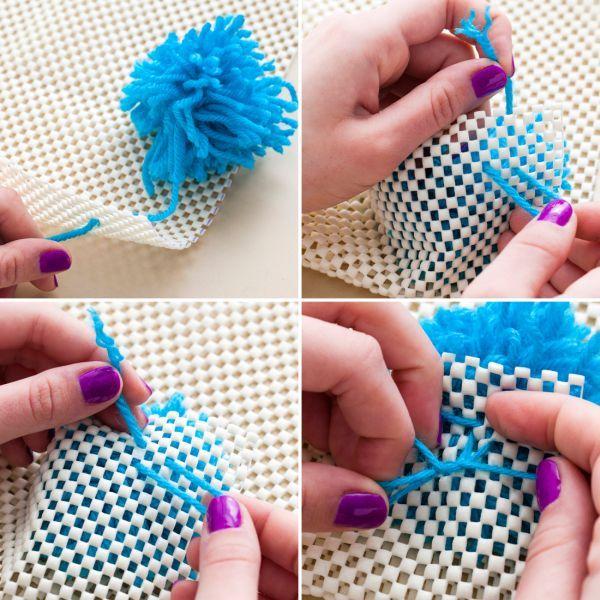 Como Fazer Tapete de Pompom de Lã  061663d015f