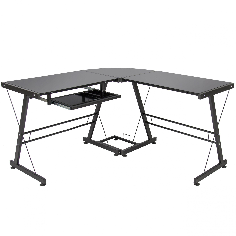 Glass workstation desk diy corner desk ideas check more at