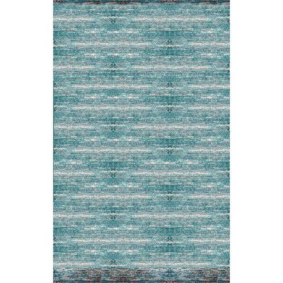 Found it at Wayfair - Landgraaf Teal/Chocolate Area Rug