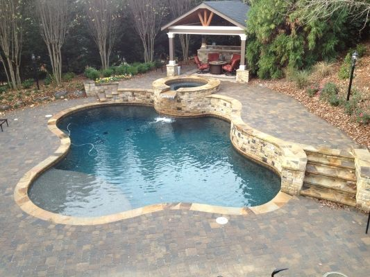 Gunite Pools Spas Rcs Pool And Spa Atlanta Black Marble Pebbletec Rcs Pool And Spa