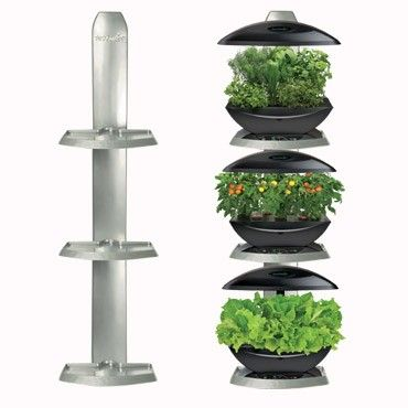 AeroGarden Ultimate 3 Shelf Wall Garden Indoor Garden Seed Kit