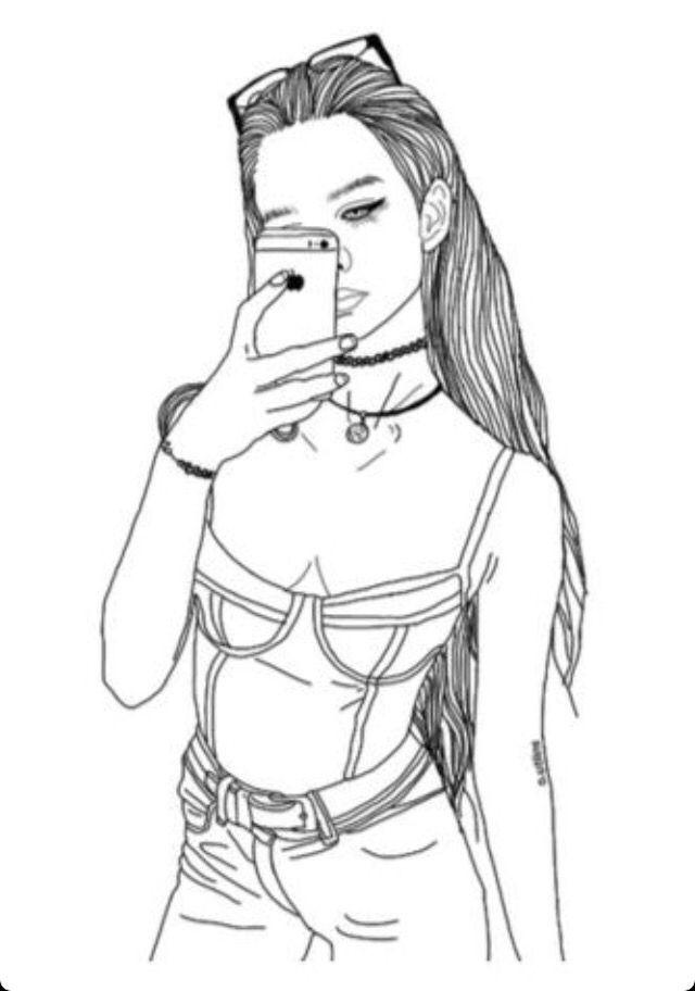 outline drawings of people