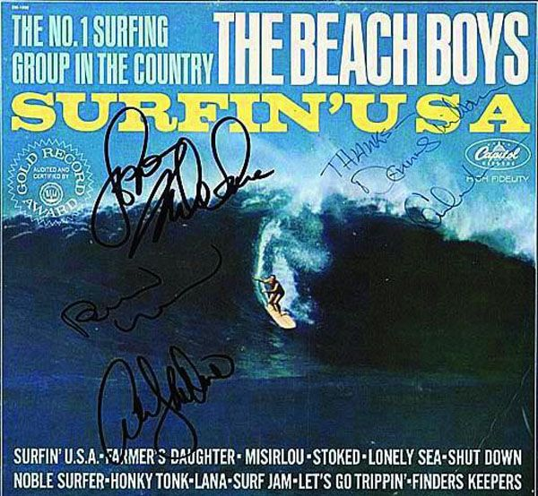 The Beach Boys Surfin Usa Lp With The Signatures Beach