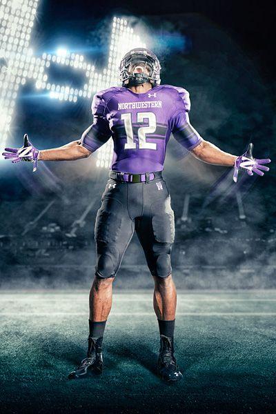 New Northwestern Under Armor Football Uniforms 2f99727ab