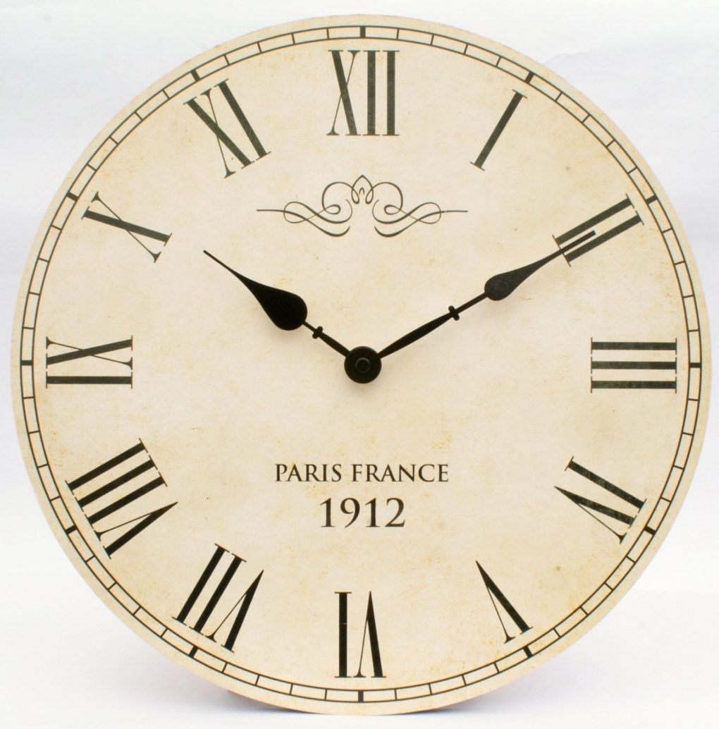Large Cream Kitchen Wall Clocks