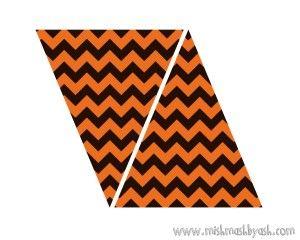 orange chevron banner