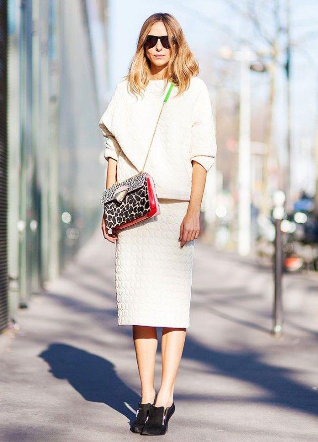 Street snapper: White is the new black for winter street