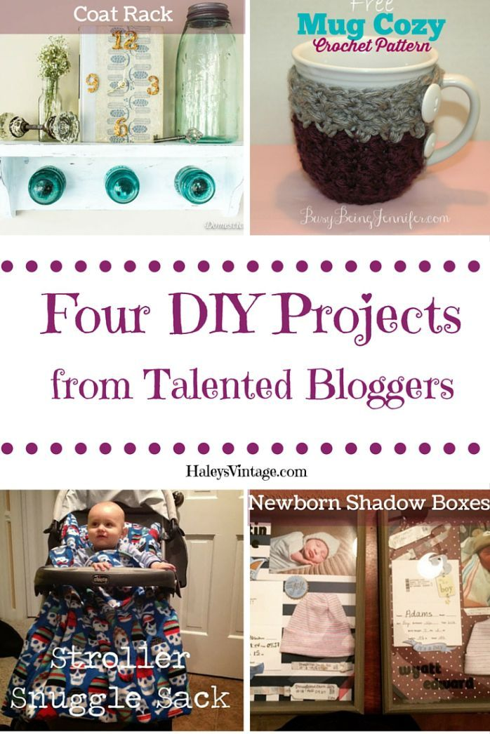 DIY Coat Rack, Mug Cozy, Stroller Sack, & Baby Shadow Box