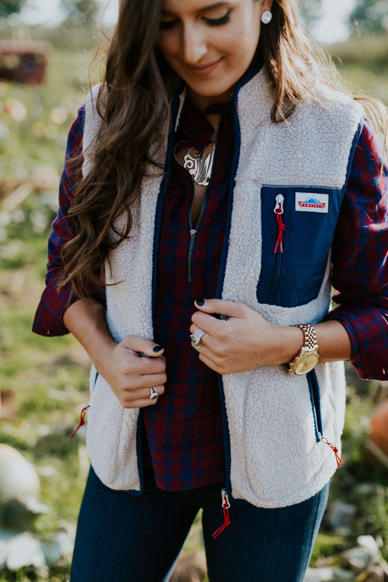 Fleece vest pinterest fleece vest southern fashion and brown