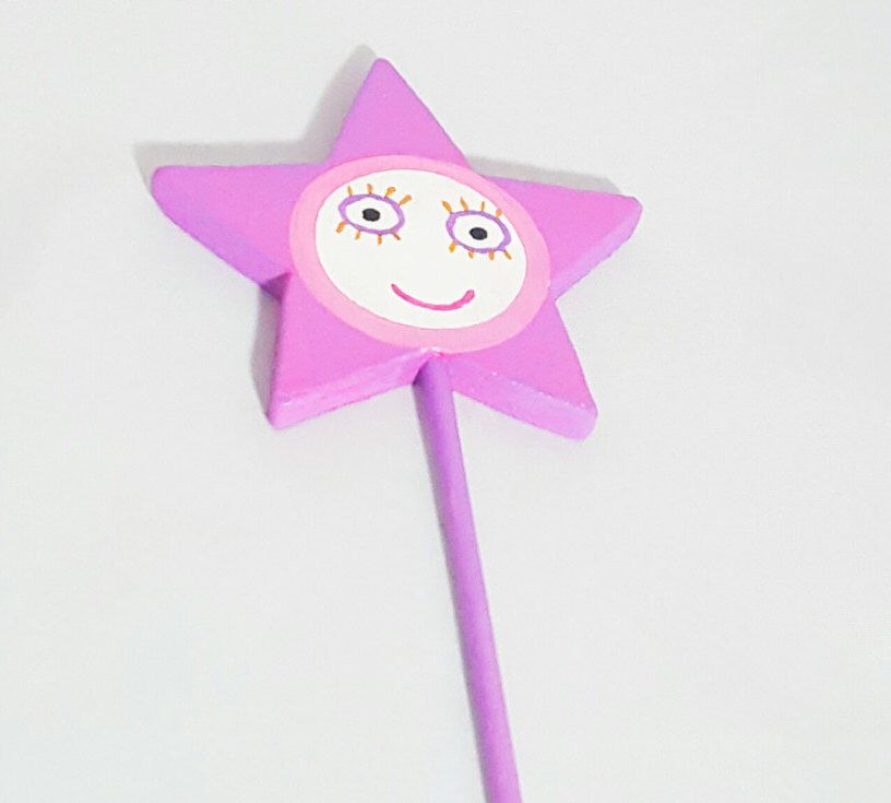 Handpainted Ben and Holly Wand by SweetPetitePartyCo on Etsy https://www.etsy.com/listing/488612780/handpainted-ben-and-holly-wand