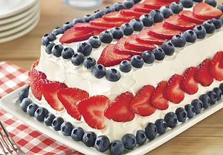 Aldi Us Red White And Blue Ice Cream Cake Ice Cream Cake 4th Of July Desserts Cream Cake