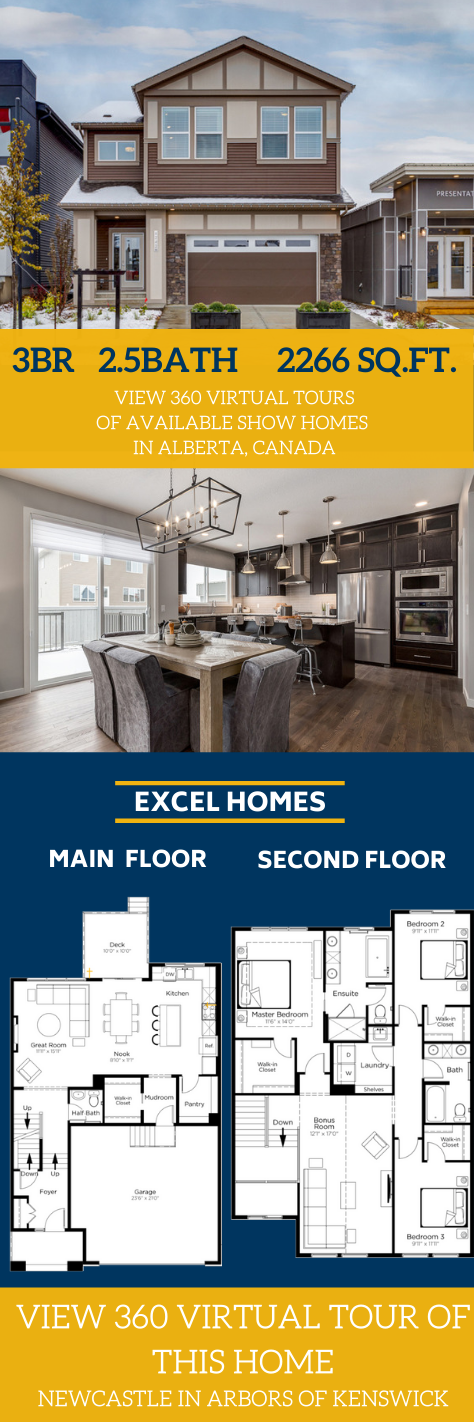 2 Story Home Design By Top Canada Home Builder Excel Homes 2 Story Home Floorplans 3 Bedroom Home Floorplans Th Home Builders New Home Builders House Design