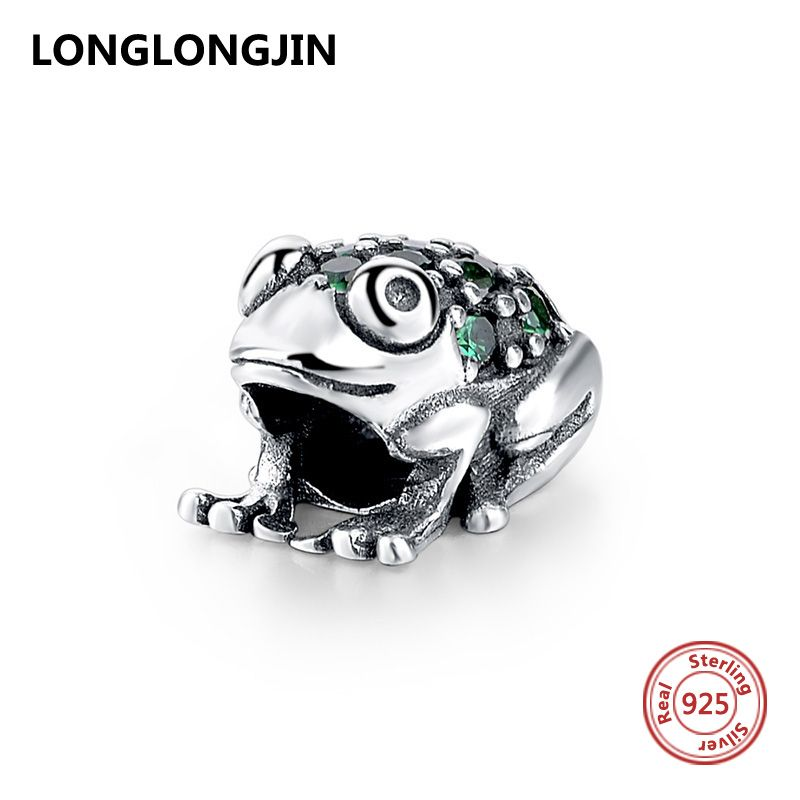 ANIMAL FROG REPTILE REAL GENUINE 925 STERLING SILVER CHARM PENDANT