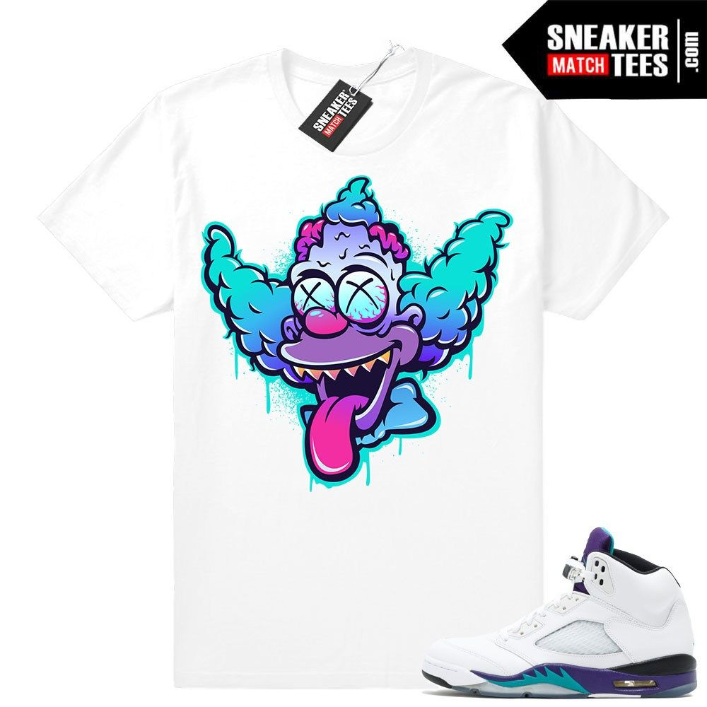 39dbc0c01e43b2 Air Jordan 5 Grape Fresh Prince 2018 - Official Sneaker Match Tees ...