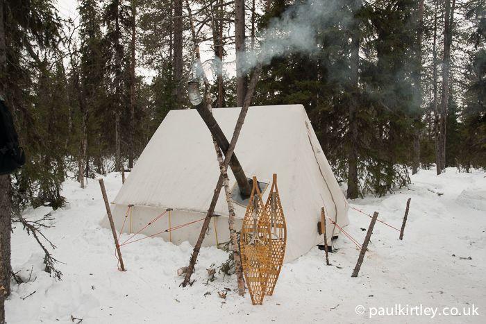 Snowtrekker tent in the forest & Snowtrekker tent in the forest | bushcraft-sheltersu0026campsite stuff ...