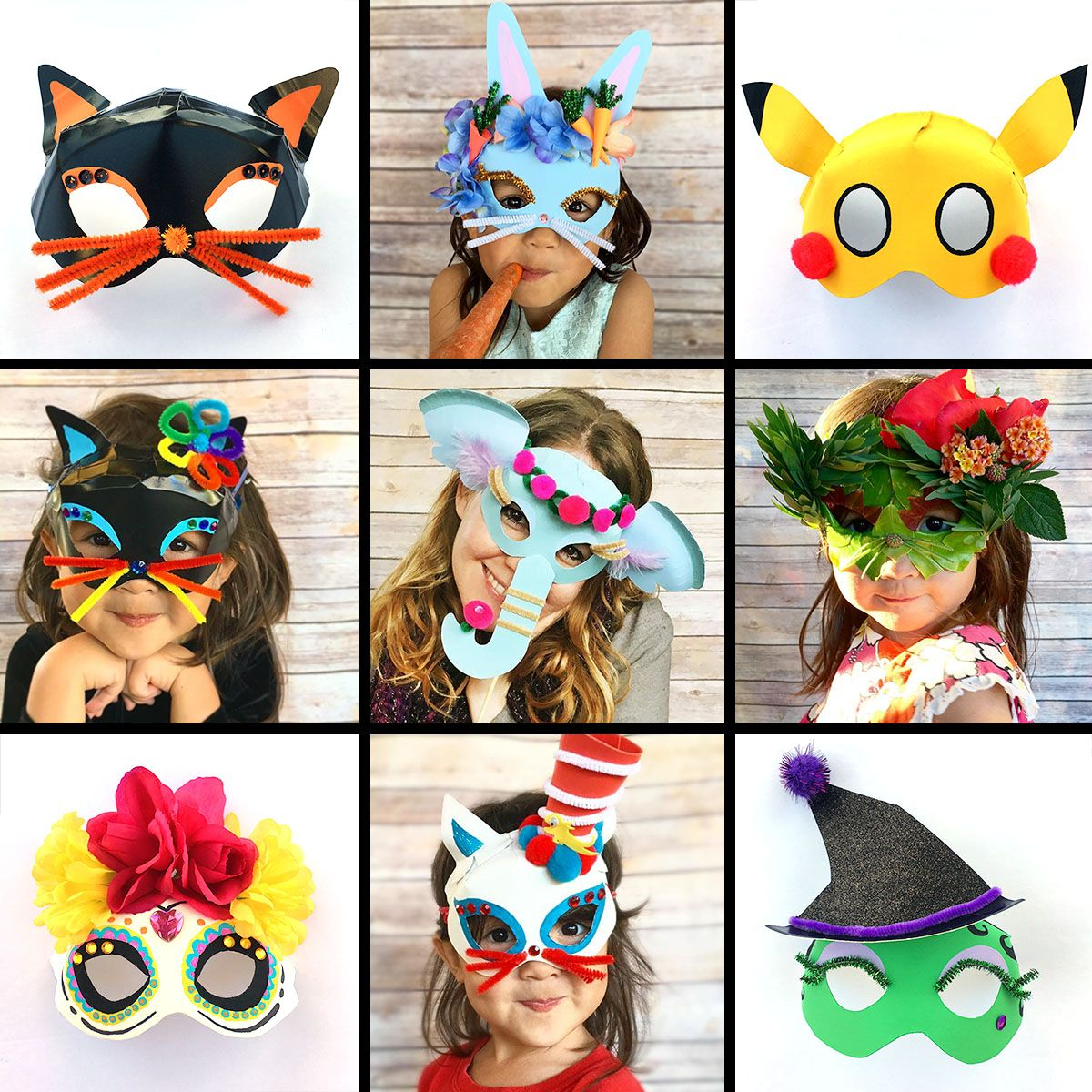 Simple Halloween Masks.Pin On Kids Holiday Crafts And Activities