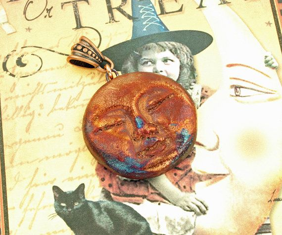 Raku moonface pendant by elementspottery on etsy 1400 raku raku moonface pendant by elementspottery on etsy 1400 aloadofball