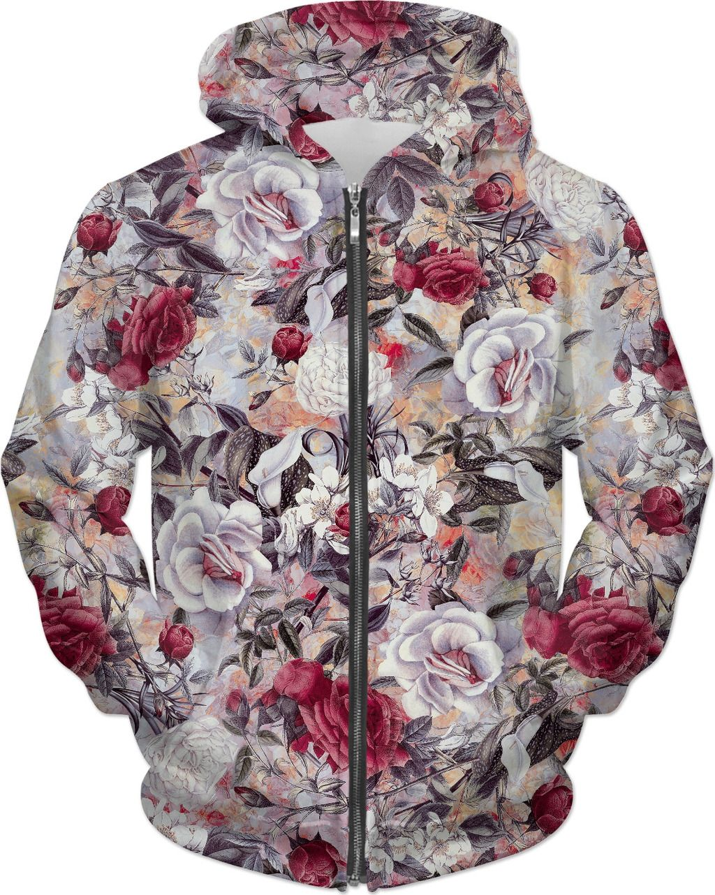 Red Roses | All Over Print | Red roses, Vintage roses, Red
