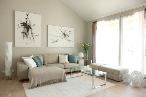 light beige walls