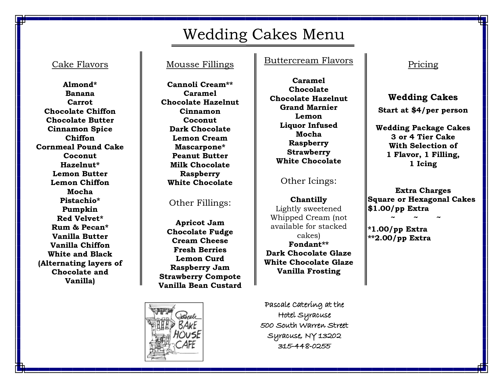 Wedding cake flavors with wedding cake flavors step by for Different types of cakes recipes with pictures