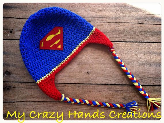Super Hero Hat, Superman Hat, Superman crochet hat, boy beanie, please read