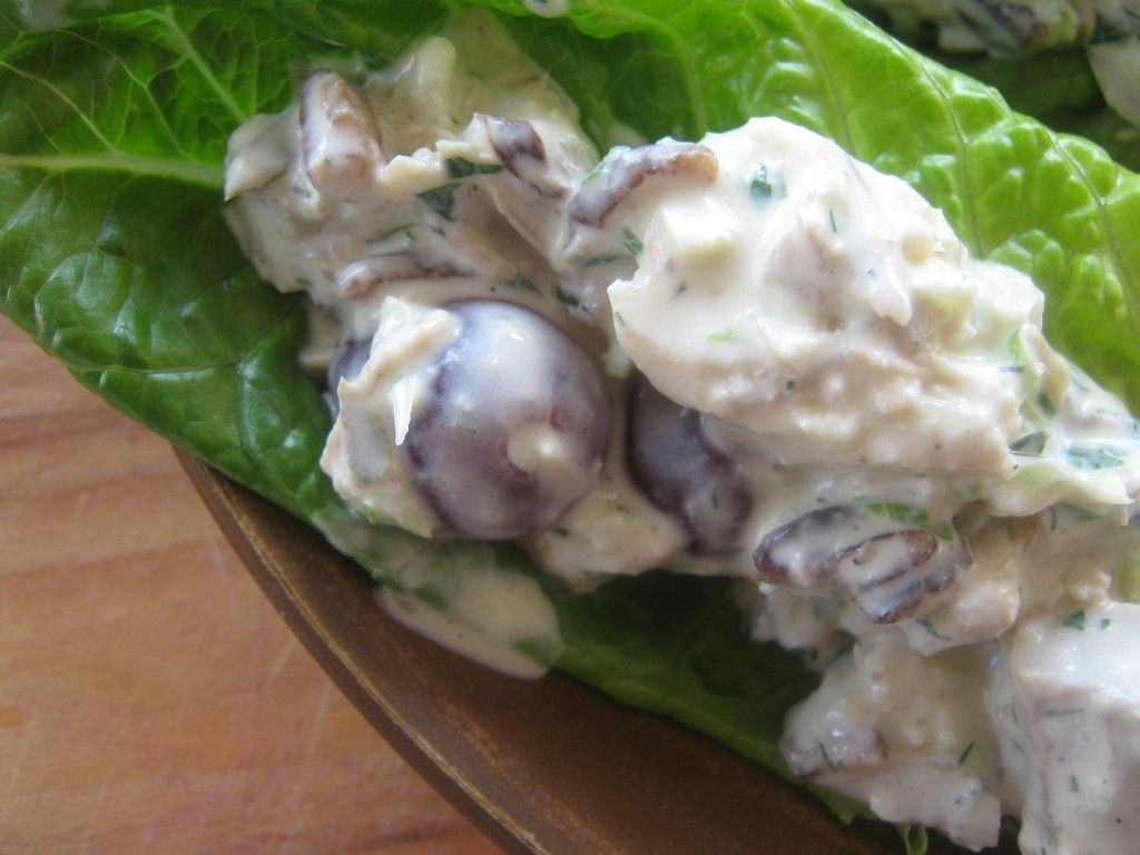 Lettuce Wraps with Herbed Chicken Salad & Pecans