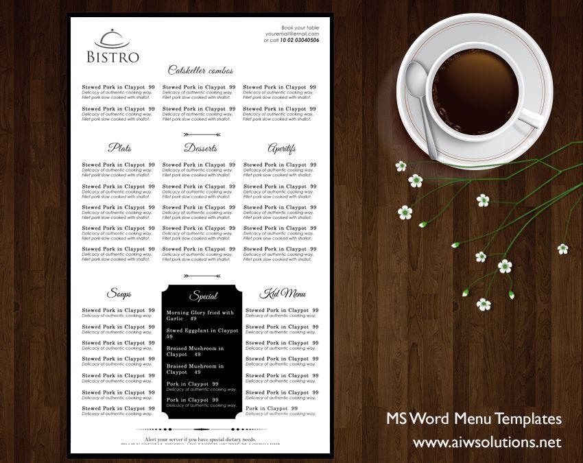 Menu \u2013 id08 Menu templates, Menu restaurant and Template - bar menu template