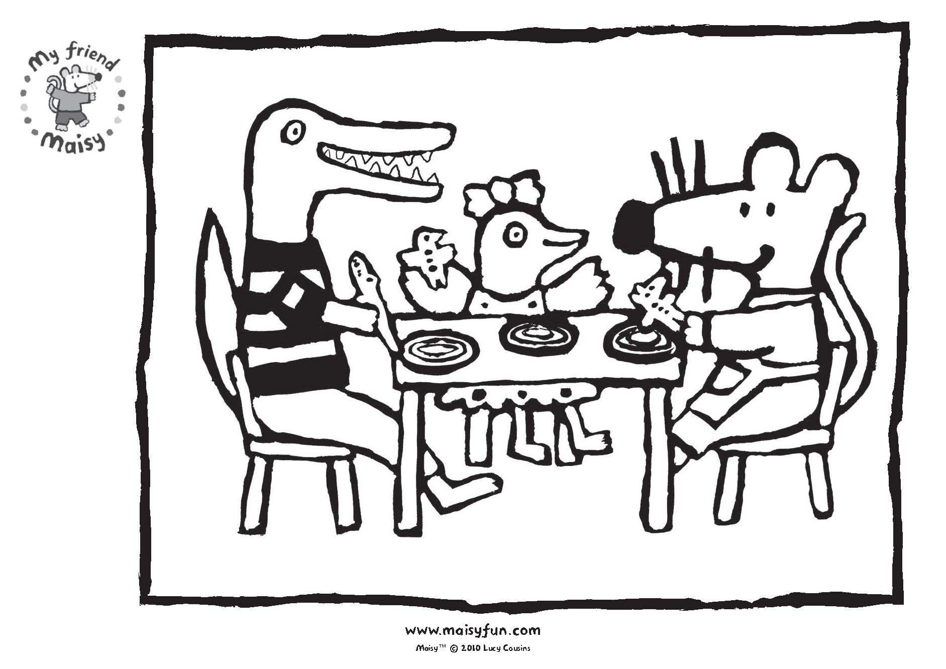 Een Leuke Kleurplaat Van Muis En Haar Vriendjes