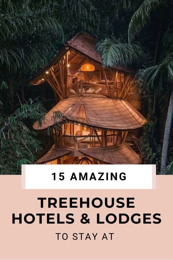 15 Amazing TreeHouse Hotels and Lodges For A Terri