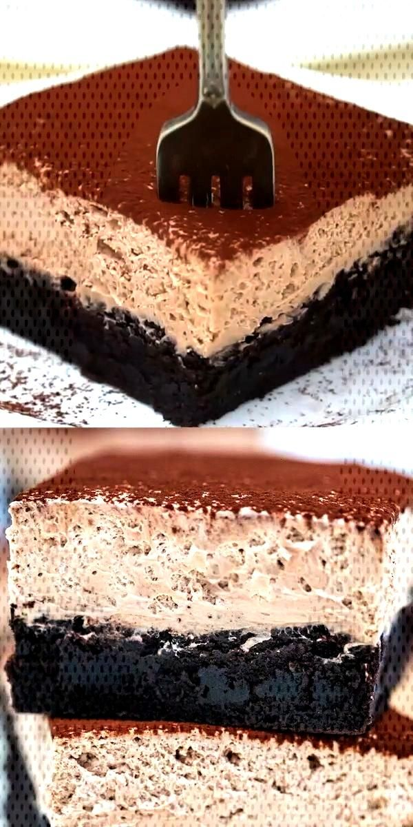 Chocolate Mousse Brownies or Best Brownies EVER! - Sweet and Savory Meals - Chocolate Mousse Brown