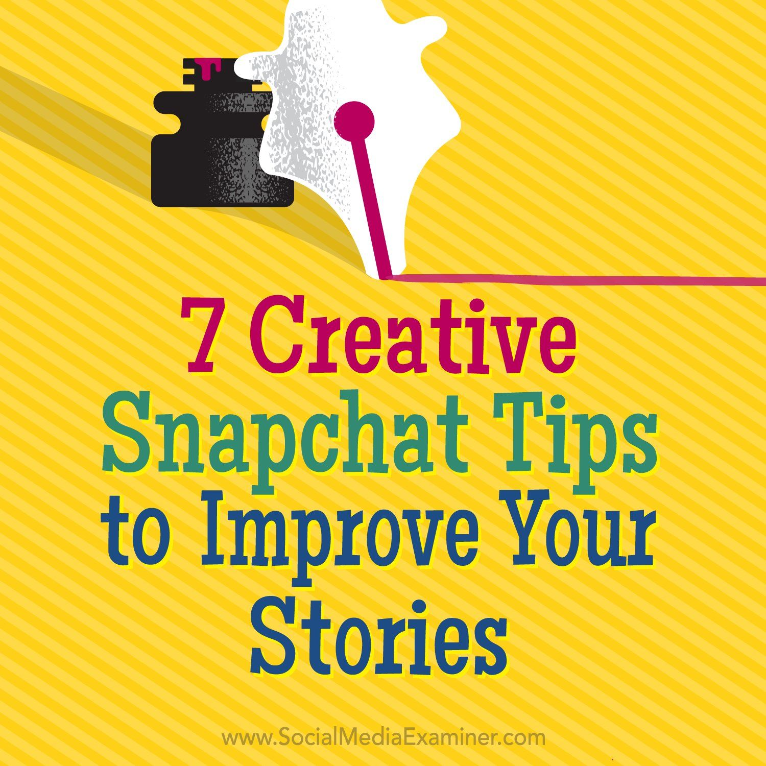 RT Mike_Stelzner: 7 Creative #Snapchat Tips to Improve Your Stories https://t.co/NffiK8DUXa by andrewandpete smex https://t.co/Ou7dbQ8fjT