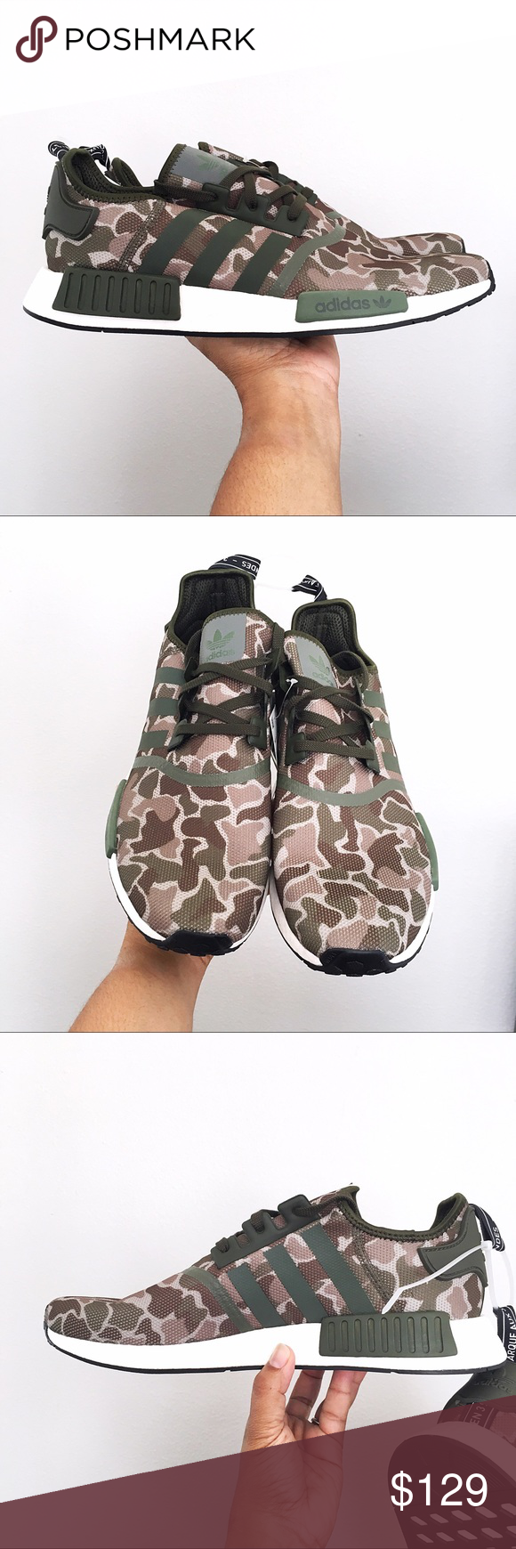 quality design e67d6 c9ddc Adidas NMD R1 Duck Camo Sesame Mens Size 13 Brand new in Box  No lid