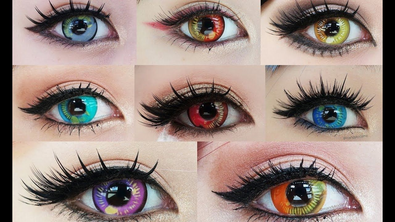 Image result for anime contact lenses gold eyes circle
