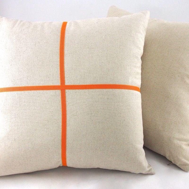 Fluoro Band Cushion Orange Star And Moss Cushions Cushion Design Throw Pillows