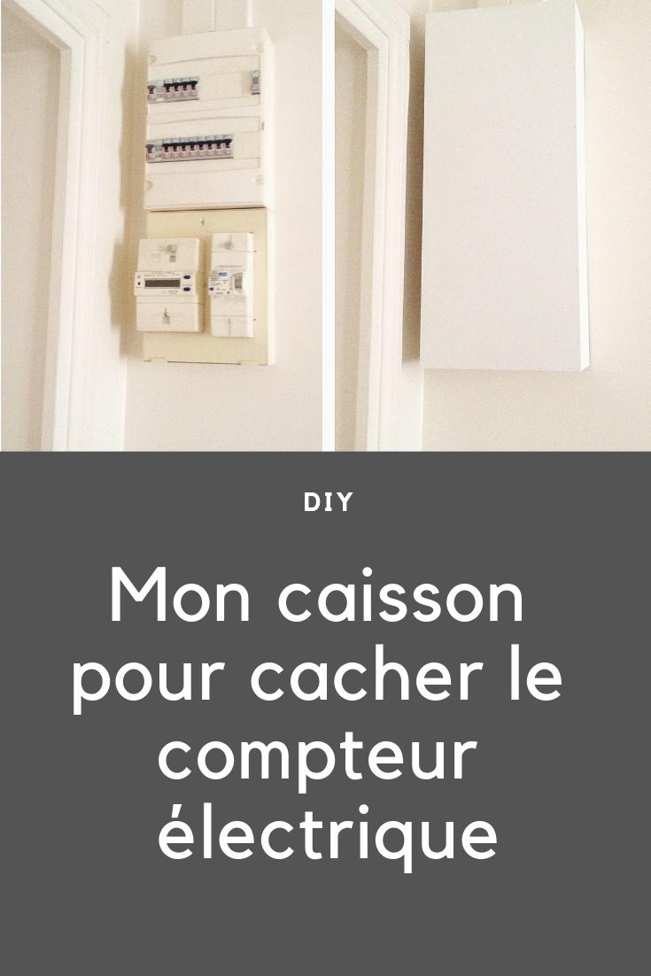 Diy Mon Caisson Blanc En Bois Pour Cacher Le Compteur Electrique