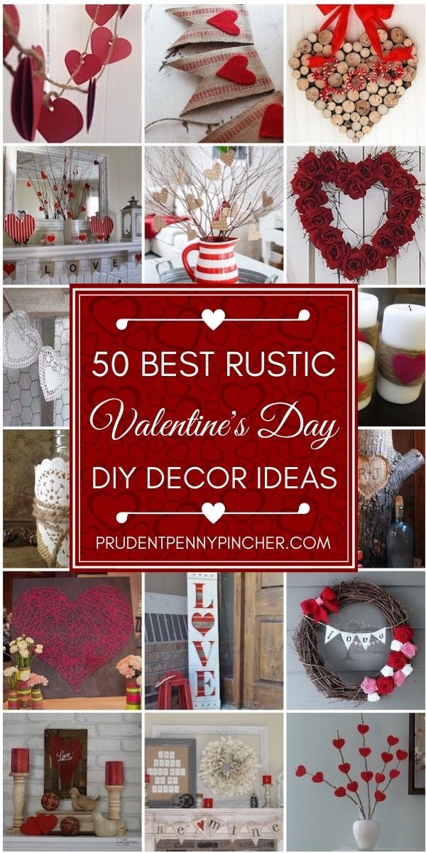 50 Best Rustic Valentine's Day Decor - Rustic valentine, Valentines diy, Diy valentines decorations, Valentines day decorations, Valentine's day diy, Valentine decorations - Give your Valentine's Day decor a rustic touch with these DIY projects  From wreaths and garlands, there are many ideas for rustic Valentine's Day decor