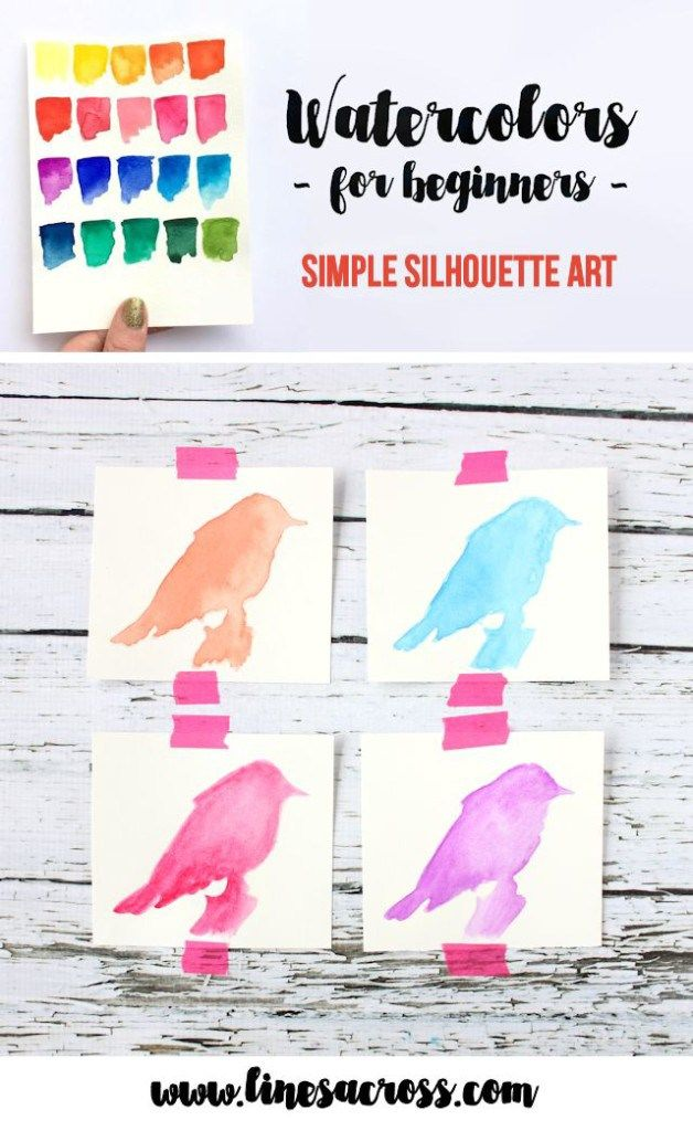 A great tutorial on watercolors for beginners. Use watercolor paints to create this simple and beautiful silhouette art.